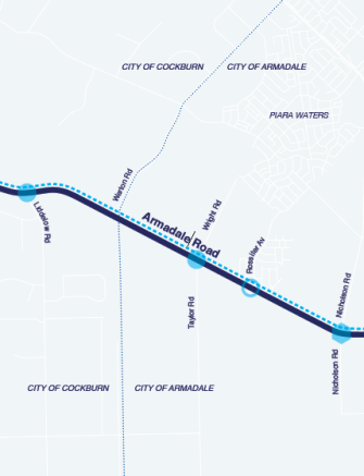 Armadale Road Upgrade map.png