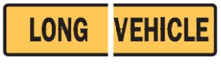 Long vehicle sign - split 1