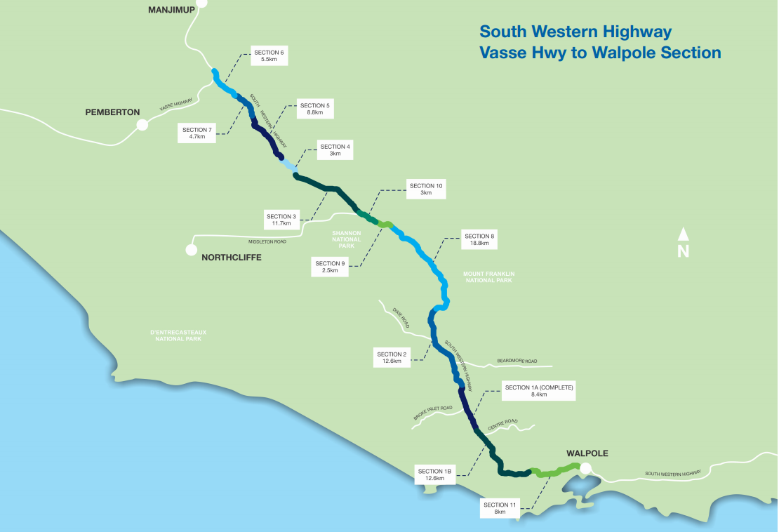 Southern Western Highway concept map