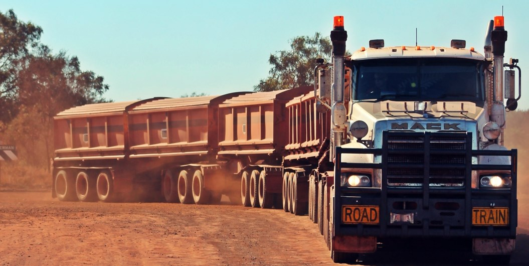 Road Train Into Iron Valley Newman.jpg